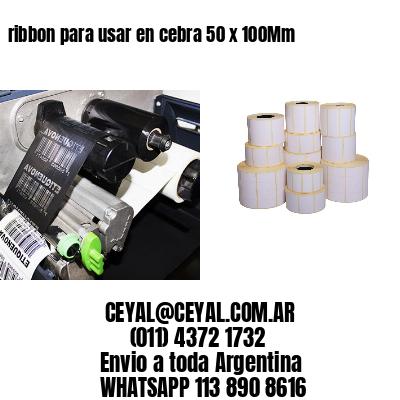 ribbon para usar en cebra 50 x 100Mm