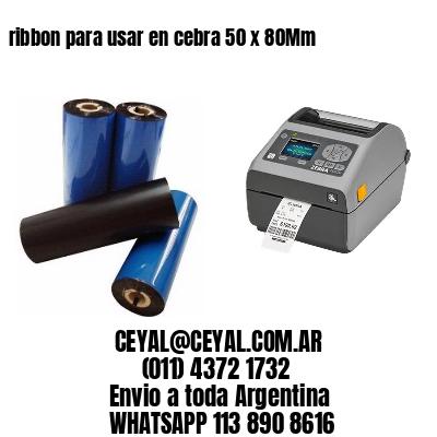 ribbon para usar en cebra 50 x 80Mm