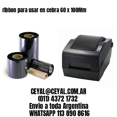 ribbon para usar en cebra 60 x 100Mm