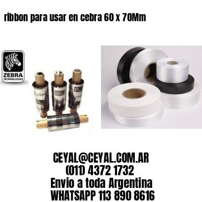 ribbon para usar en cebra 60 x 70Mm