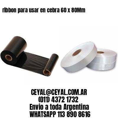ribbon para usar en cebra 60 x 80Mm