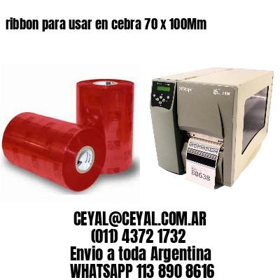 ribbon para usar en cebra 70 x 100Mm