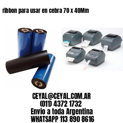 ribbon para usar en cebra 70 x 40Mm