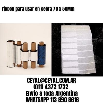 ribbon para usar en cebra 70 x 50Mm