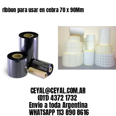 ribbon para usar en cebra 70 x 90Mm