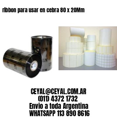 ribbon para usar en cebra 80 x 20Mm