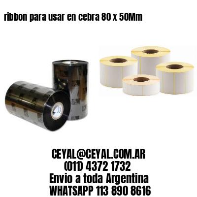 ribbon para usar en cebra 80 x 50Mm