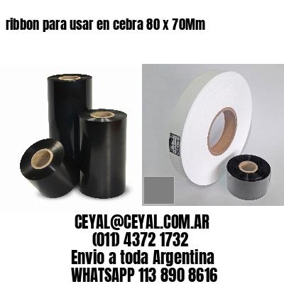 ribbon para usar en cebra 80 x 70Mm