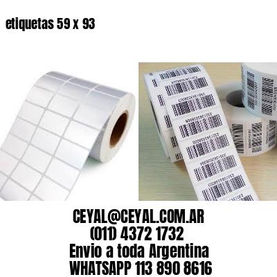 etiquetas 59 x 93