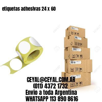 etiquetas adhesivas 24 x 60