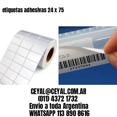 etiquetas adhesivas 24 x 75
