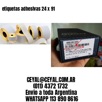 etiquetas adhesivas 24 x 91