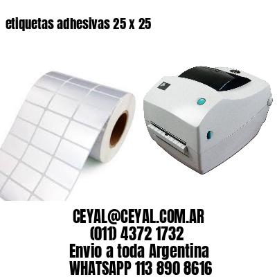 etiquetas adhesivas 25 x 25