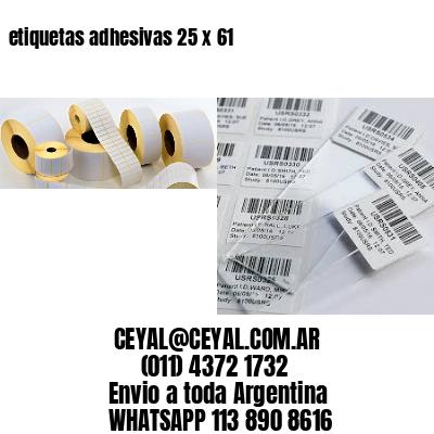 etiquetas adhesivas 25 x 61