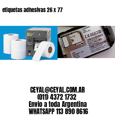 etiquetas adhesivas 26 x 77