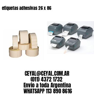 etiquetas adhesivas 26 x 86