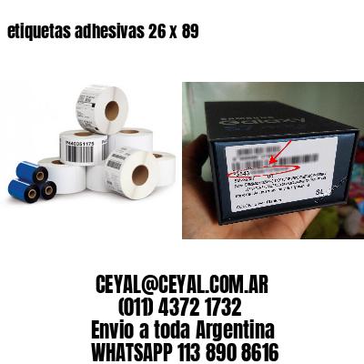 etiquetas adhesivas 26 x 89