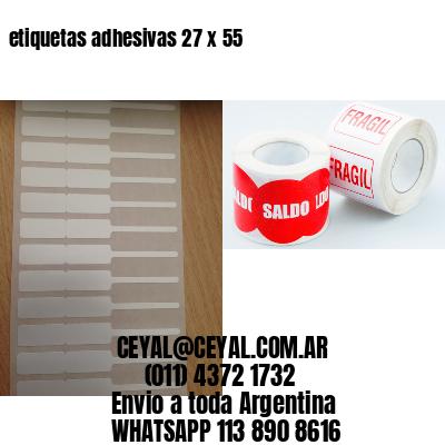 etiquetas adhesivas 27 x 55