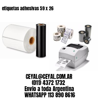 etiquetas adhesivas 59 x 26
