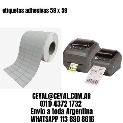 etiquetas adhesivas 59 x 59