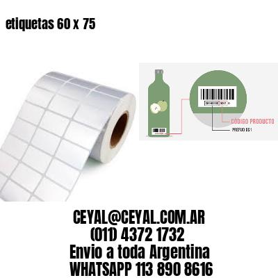 etiquetas 60 x 75