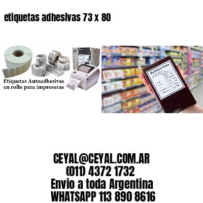 etiquetas adhesivas 73 x 80