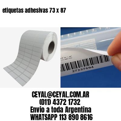 etiquetas adhesivas 73 x 87
