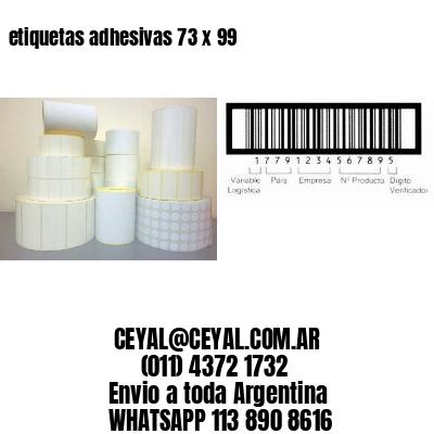 etiquetas adhesivas 73 x 99