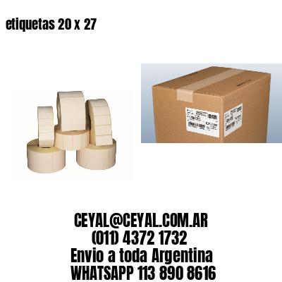 etiquetas 20 x 27