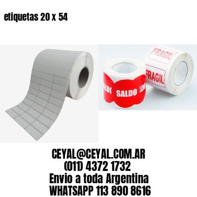 etiquetas 20 x 54