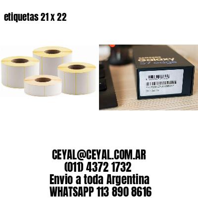 etiquetas 21 x 22