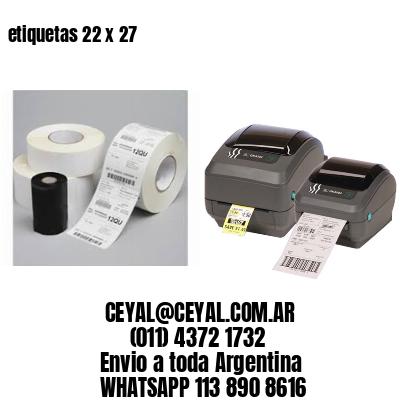 etiquetas 22 x 27