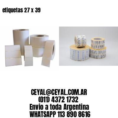 etiquetas 27 x 39