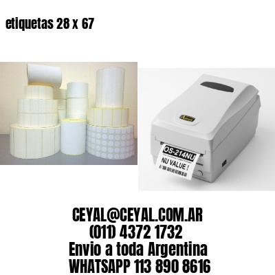 etiquetas 28 x 67