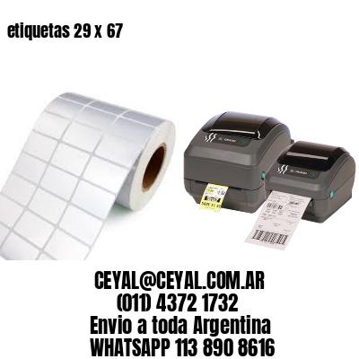 etiquetas 29 x 67