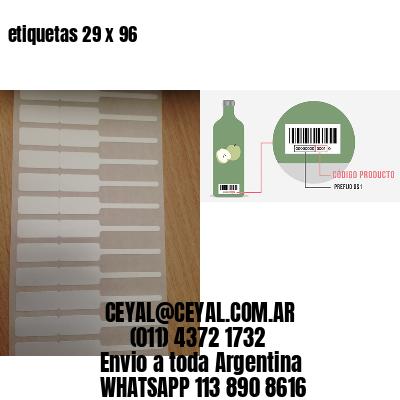 etiquetas 29 x 96