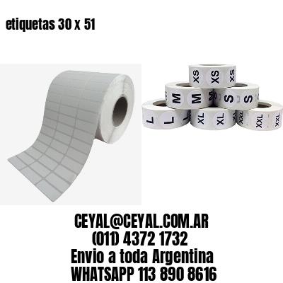 etiquetas 30 x 51