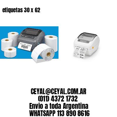 etiquetas 30 x 62