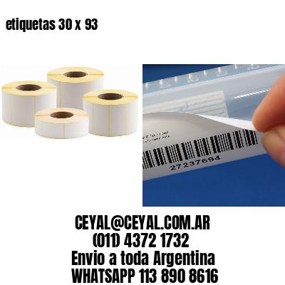 etiquetas 30 x 93