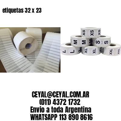 etiquetas 32 x 23