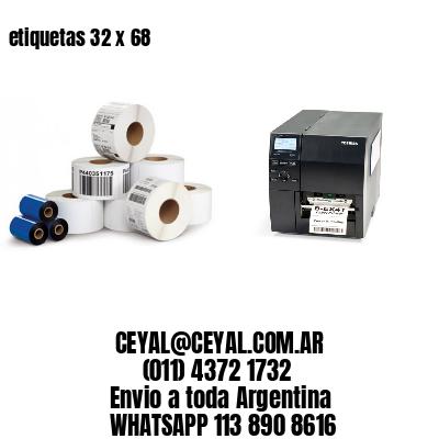 etiquetas 32 x 68
