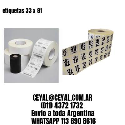 etiquetas 33 x 81