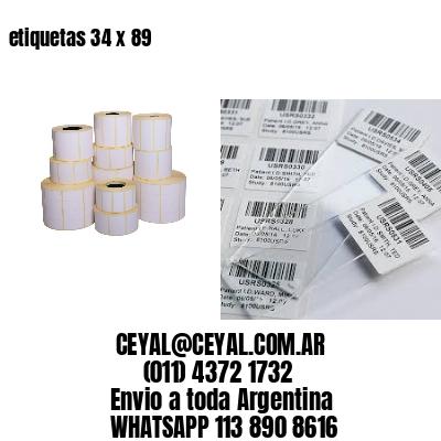 etiquetas 34 x 89
