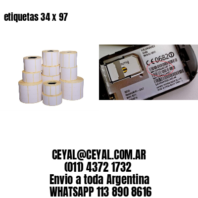 etiquetas 34 x 97