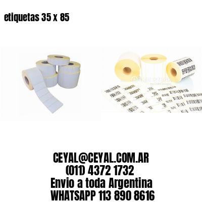 etiquetas 35 x 85