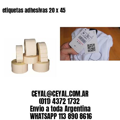 etiquetas adhesivas 20 x 45