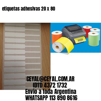 etiquetas adhesivas 20 x 80