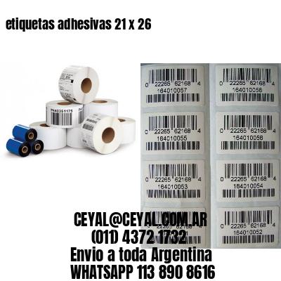etiquetas adhesivas 21 x 26