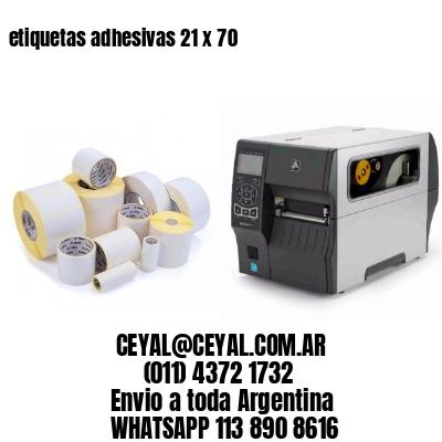 etiquetas adhesivas 21 x 70