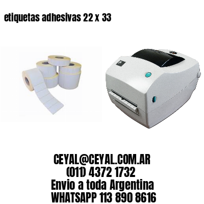 etiquetas adhesivas 22 x 33